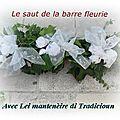 Lei Mantenèire di Tradicioun ont fait sauter la barre fleurie à l'une des leurs .....