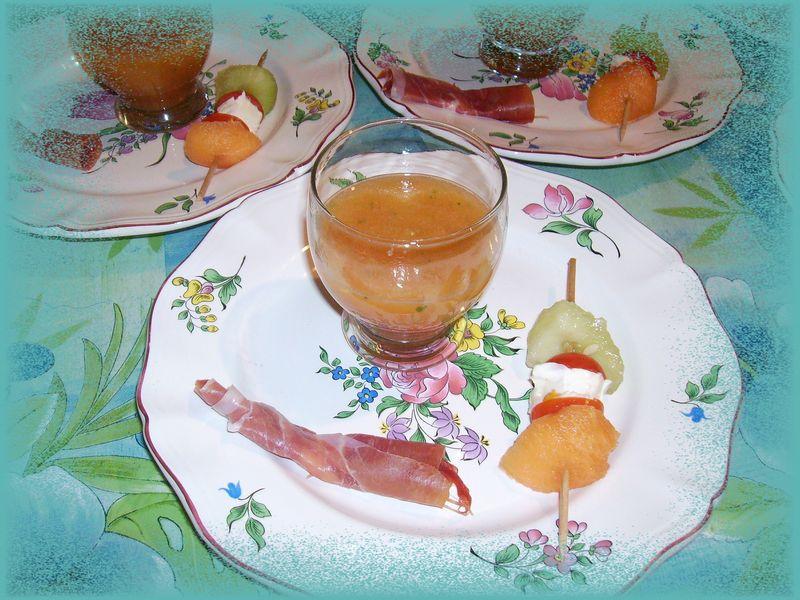 Soupe froide de melon a la menthe fraiche les petits for Entree fraiche ete