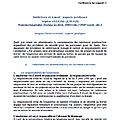 Addictions et <b>travail</b> : aspects juridiques. 32ème congrès national de médecine et de santé au <b>travail</b> - ISTNF