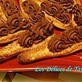 Cuillères sablées gourmandes au chocolat