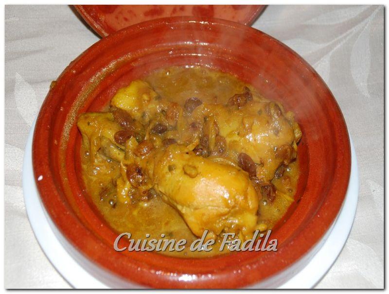 Tajine de poulet aux oignons et raisins secs blogs de cuisine - Plat a tajine pour induction ...