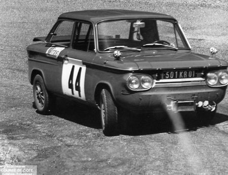 1968 - JP CHENEVIER dans un virage Vuillafans 1968