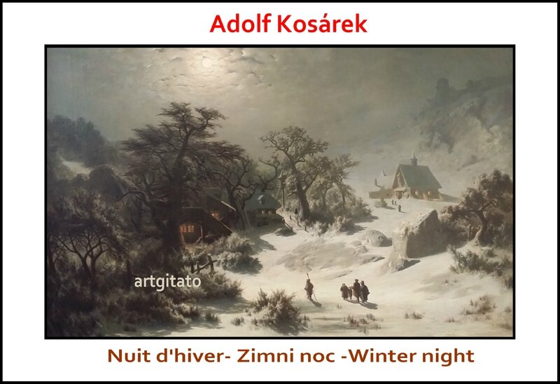 Adolf Kosárek Zimni noc Nuit d'hiver Winter night 1857 Artgitato 2