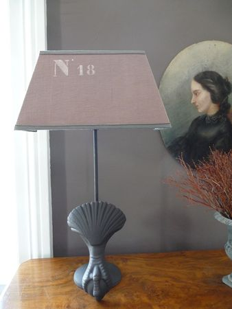lamp base using a French antique element