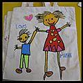 <b>Fête</b> des mères MS : petits sacs en tissu