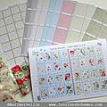 PLANCHES A COUPONS DE <b>TISSUS</b> & BOUTONS