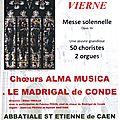CAEN, abbatiale St Etienne: COMMEMORATION du 930ème anniversaire de la mort de Guillaume le CONQUERANT
