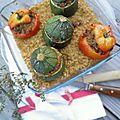 Petits farcis courgettes, tomates & boulghour