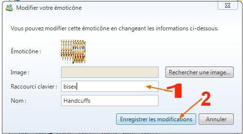 Changer emoticone - Raccourci bureau disparu ...