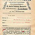 L'ARGUS DE LA PRESSE . 1909 .