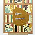 <b>Carte</b> <b>d</b>'<b>anniversaire</b> automnale - Fall coloured birthday card