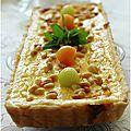 Tarte ricotta, chèvre frais, melon menthe et pignons de pins.....