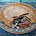 Gâteau basque pour « touriste » à la confiture de cerises et à l'Izarra