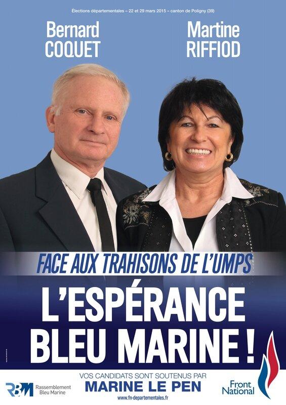 Poligny Bernard Coquet et Martine Ruffiod