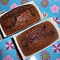 Petits cakes au chocolat tendres et moelleux !