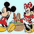 <b>Point</b> de <b>croix</b> : Pâques avec Mickey et Minnie