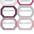 <b>ETIQUETTES</b> A IMPRIMER PATE A TARTINER