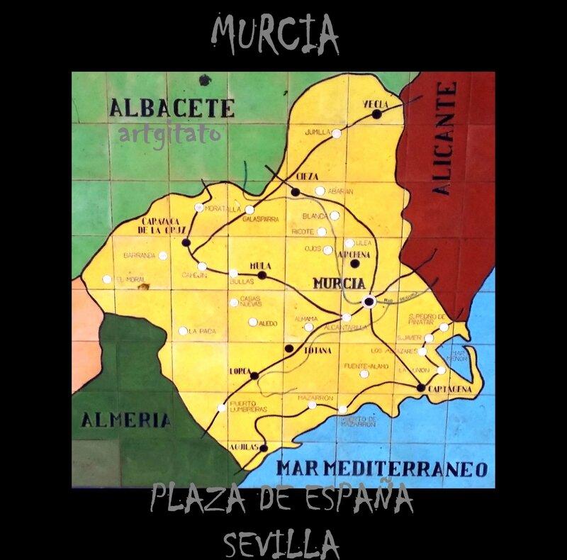 Murcia Sevilla Plaza de España Artgitato Carte