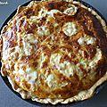 Quiche au Munster, <b>fromage</b> blanc et lardons