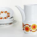 Vaisselle Vintage ... Cafetière ou Verseuse BAVARIA * Soleil