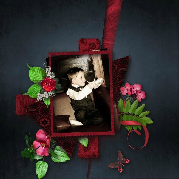 template 34 - kit desclics gothic night - photo cocotounette