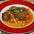 ragout de pst gout <b>boeuf</b>,oignons et pois chiche, carottes et tomates