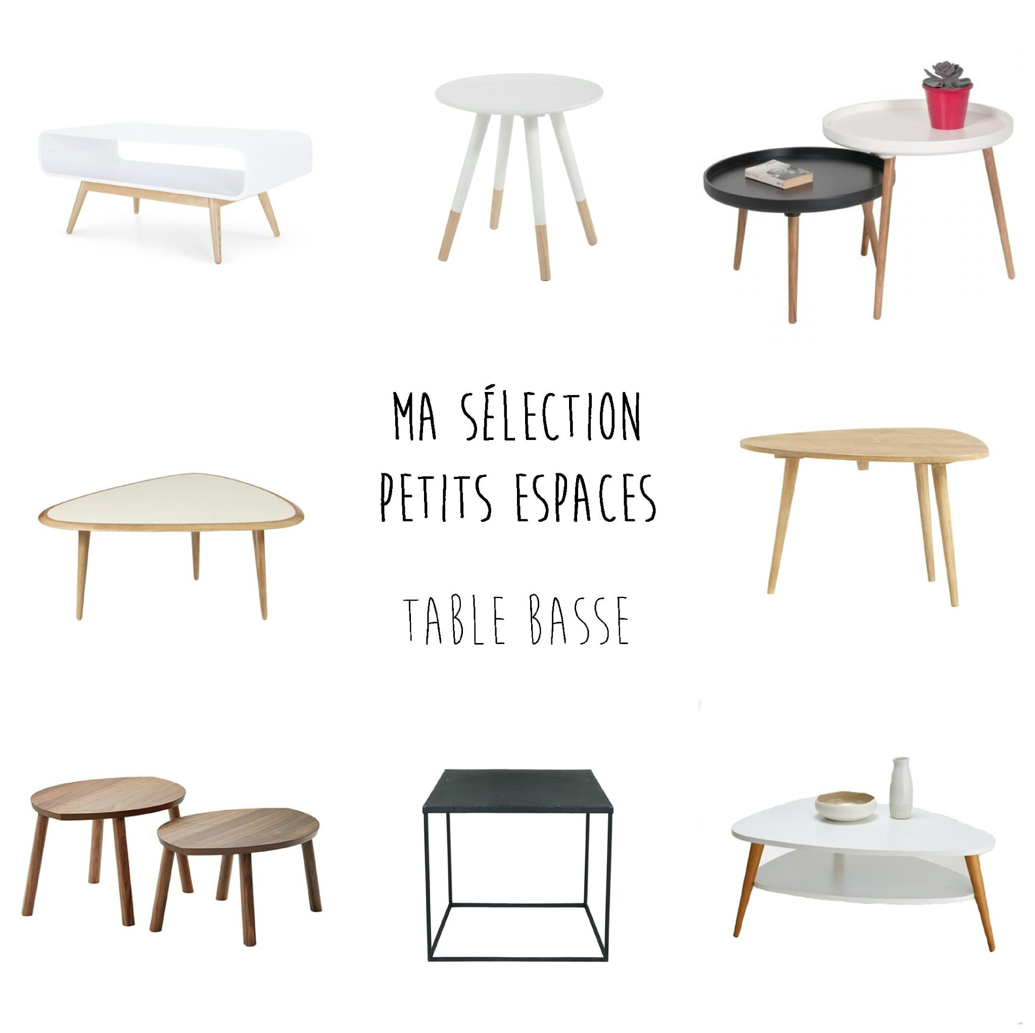 design intemporel 9a220 94238 Un petit salon ? Comment trouver la table basse idéale