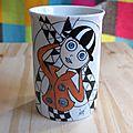 Mugs en porcelaine peints à la main