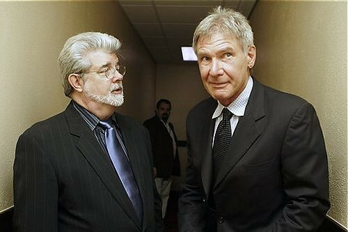 George Lucas, le producteur, & Harrison Ford