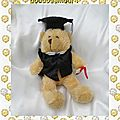 Peluche Doudou Ours Harald Le Diplomé The Teddy <b>Bear</b> Collection