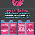 NOUVEAU Stage Adultes novembre 2014