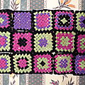 <b>Plaid</b> en granny square