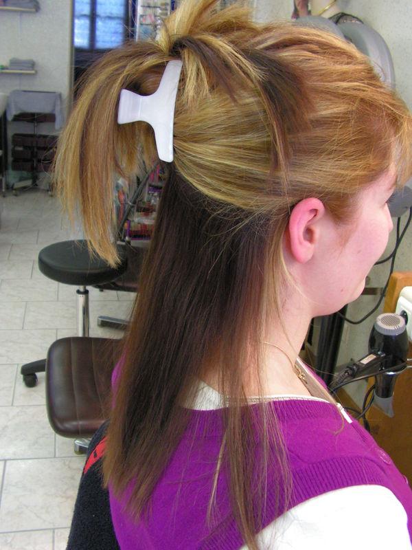 Pin balayage brun froblog on pinterest - Meche blonde et rouge ...