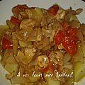 Poulet à l'<b>échalote</b>, oignon et tomate cerise 4 pp / pers pour 2 pers
