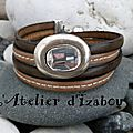 Allez, haut les coeurs ! Soyons festifs avec ce <b>bracelet</b> en <b>cuir</b> double tour de poignet et son strass, élégant mais brillant !?