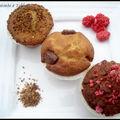 Trilogie de muffins pralinés