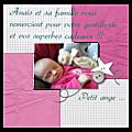 Une <b>carte</b> de remerciement naissance en digital