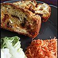 <b>Cake</b> tomates confites, chorizo et chèvre