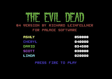 [Commodore 64] The Evil Dead 26550110