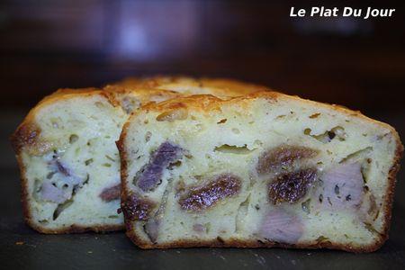 recettes  Cake au foie gras et au magret de canard