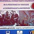 Samedi 8 avril 2017 à Lagnes: Assemblée Générale des CVR de <b>Vaucluse</b>