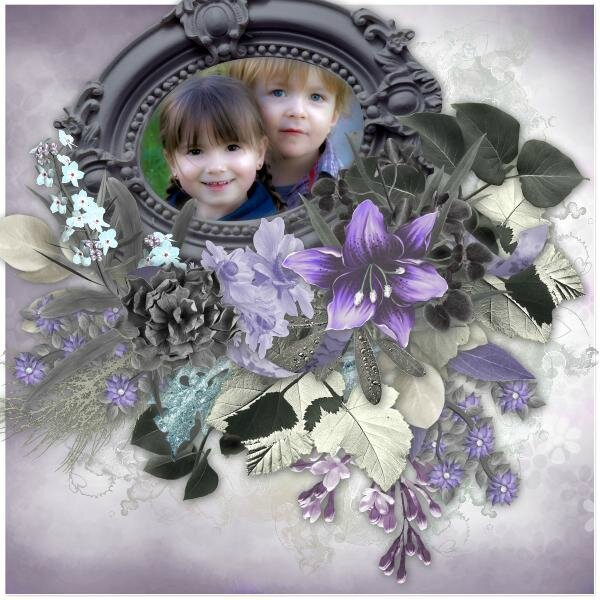 Desclics -template 39-3 - kit Scrap'angie - josycréation - sweetness purple - photo Nounou