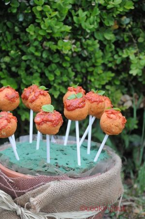 recettes  Cake pops apro version tomate basilic