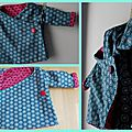 Kimono réversible pour <b>bébé</b> tordu