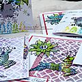 Encore des <b>cartes</b>... et un petit message à tous mes abonnés / Some new cards and more..