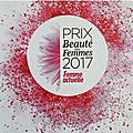 Prix beauté des femmes 2017