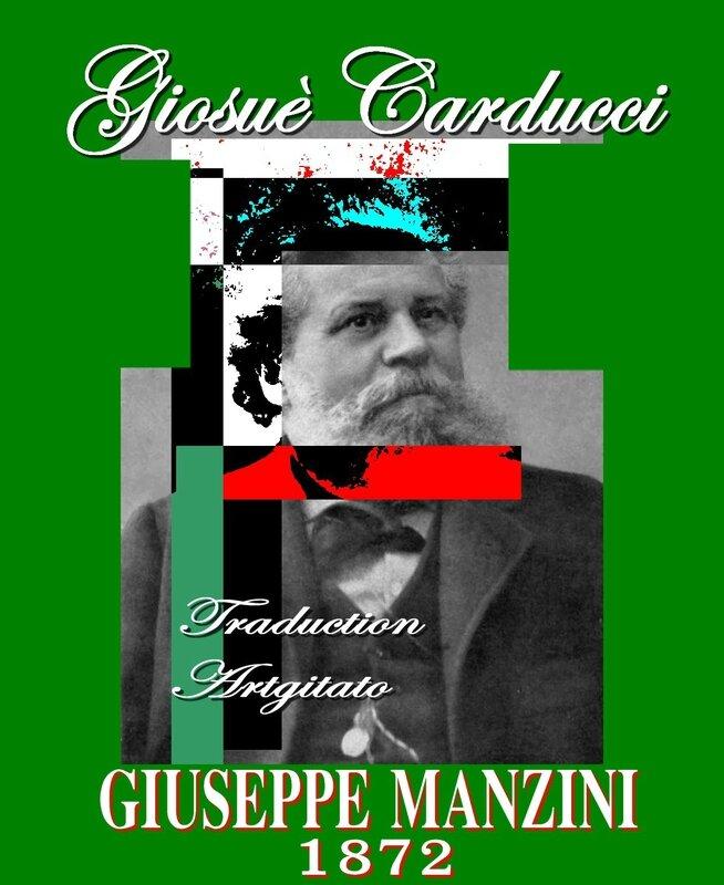 giuseppe manzini carducci poème de Giosuè Carducci Traduction Artgitato Poème