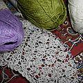 Lavender landscape : mon spring shawl !