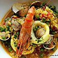 <b>Paella</b> de mariscos
