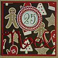 Carte de Noël avec une Joyeuse étiquette du 25... décembre
